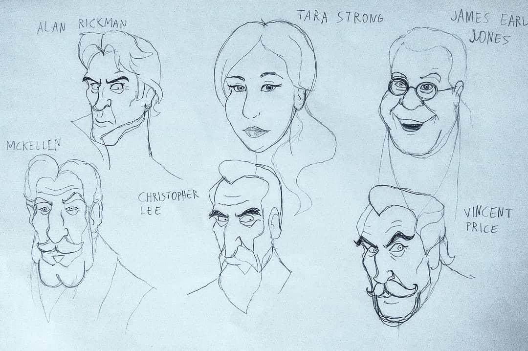 attori e doppiatori di Hollywood (Alan Rickman, Tara Strong, James Earl Jones, Ian Mckellen, Christopher Lee e Vincent Price)